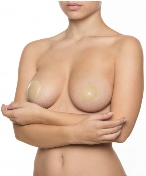 Cache-tétons invisibles en silicone (1 paire) par Bye Bra (SILICONE-NIPPLE-COVERS)