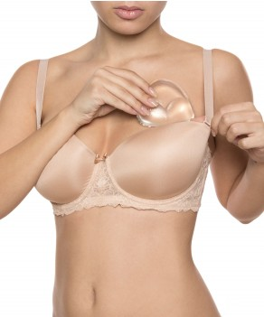 Coussinets en silicone Waterproof par Bye Bra (WATERPROOF-BIKINI-PUSH-UP-PADS)