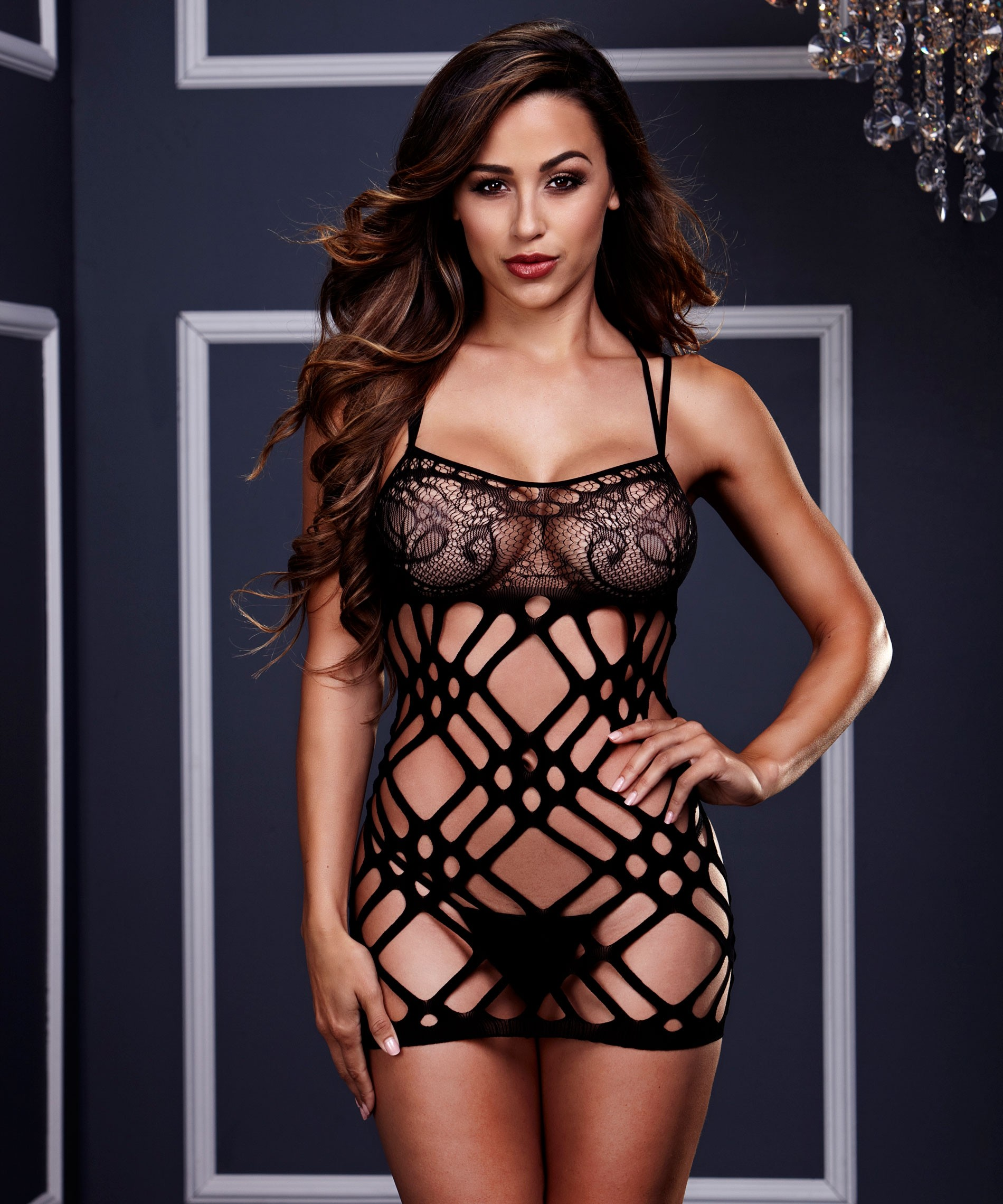 Robe sexy Double Strap Lace