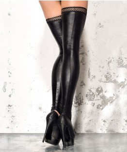 Bas vinyl sans pieds ST01 par Me Seduce (MS-STOCKINGS-ST01)