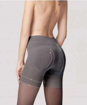Collant remonte-fesses (40 den) par Fiore (M5102-PRESS-UP-40)
