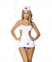Costume sexy d'infirmière avec robe (3 pièces) HIGH FEVER